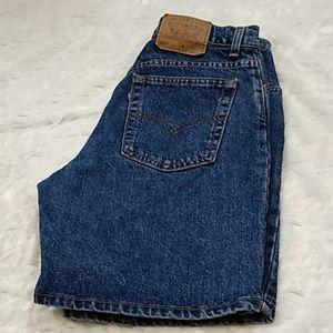 Levi's Denim Jean High Rise Mom Shorts